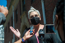 """South Africa - Cape Town - 12 October 2020 - Today, 12 October 2020, Democratic Alliance (DA) Chief Whip, Natasha Mazzone MP, will lay criminal charges against the EFF leader, Julius Malema, and EFF Member of Parliament, Nazier Paulsen, over social media posts that incite violence.<br /> Malema tweeted on Wednesday, """"Magwala a chechele morago! (Cowards move to the back) Fighters attack!"""" and as a follow-up, over the weekend, he tweeted a picture of a machine gun. Echoing Malema's brazen incitement of violence, Paulsen posted a picture with a machine gun captioned """"Get ready!"""".<br /> The South Africa Police Services (SAPS) has proven this week that it is capable of pursuing those who purportedly incite violence as was evident in the swift action taken against the alleged instigator of the violence at Senekal. We hope that the police will now apply the same energy in holding Melama and the EFF accountable with equal vigor.<br /> The DA is of the view that both Malema and Paulsen must be held to account for their e incendiary posts. Picture Courtney Africa/African News Agency(ANA)"""