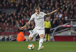 February 6, 2019 - Barcelona, BARCELONA, Spain - Kroos of Real Madrid in action during Spanish King championship, football match between Barcelona and Real Madrid, February 06th, in Camp Nou Stadium in Barcelona, Spain. (Credit Image: © AFP7 via ZUMA Wire)