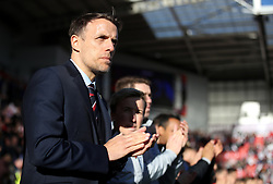 England manager Phil Neville during the Women's International Friendly match at the AESSEAL New York Stadium, Rotherham.