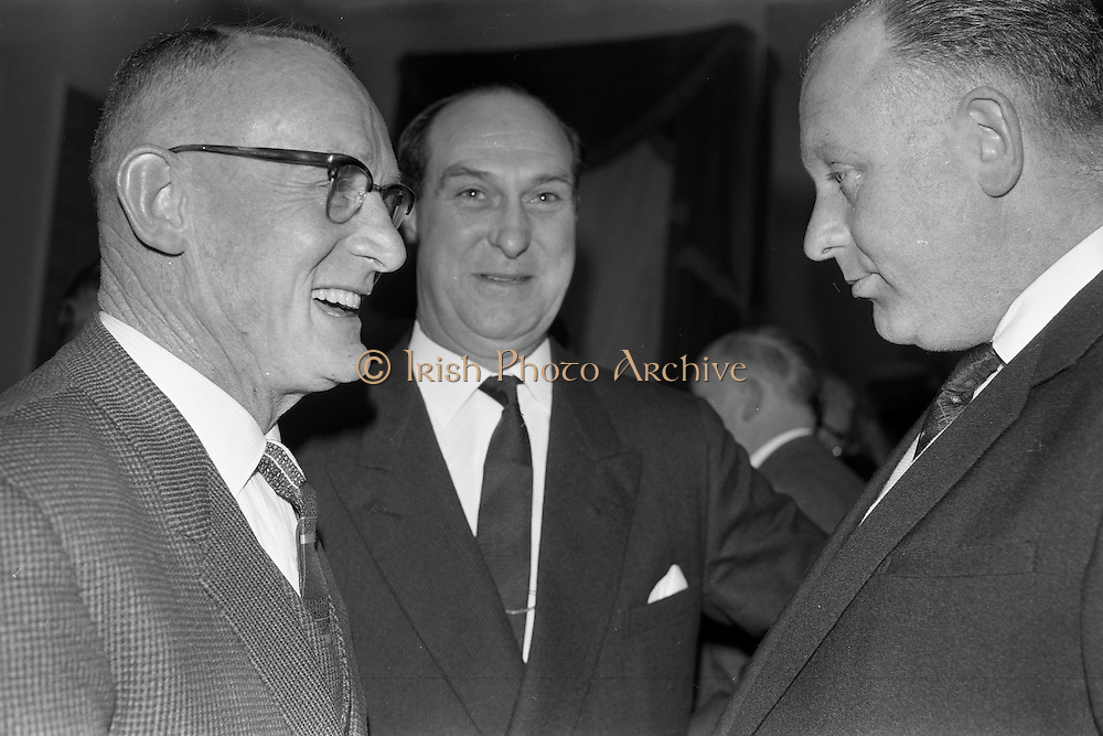07/02/1963<br /> 02/07/1963<br /> 07 February 1963<br /> Brittain Dublin Ltd. Golden Jubilee reception and Dinner at the Hibernian Hotel, Dublin. Picture shows