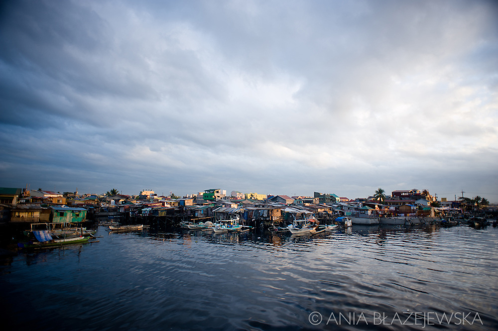 Philippines, Metro Manila. Sunrise in Navotas, one of the sities of Metro Manila, situated just at the seaside.