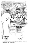 """Chemist (to battered female, who is covered with scratches). """"The cat, I suppose?"""" Battered female. """"No. Another lydy!"""""""