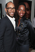14 September 2010-New York, NY- l to r: Celebrity Make-up Artist Sam Fine and Renee Neuville at The Jones Awards Celebrating Diversity in Fashion and Beauty Present by ' My Black Is Beautiful ' and held at The Alvin Ailey Citigroup Theater on September 14, 2010 in New York City. Photo Credit: Terrence Jennings