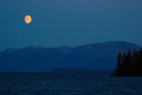 Atlin Lake moonrise