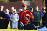 Isaiah Salinda (USA) on the 18th during Day 1 Singles of the Walker Cup at Royal Liverpool Golf CLub, Hoylake, Cheshire, England. 07/09/2019.<br /> Picture: Thos Caffrey / Golffile.ie<br /> <br /> All photo usage must carry mandatory copyright credit (© Golffile | Thos Caffrey)