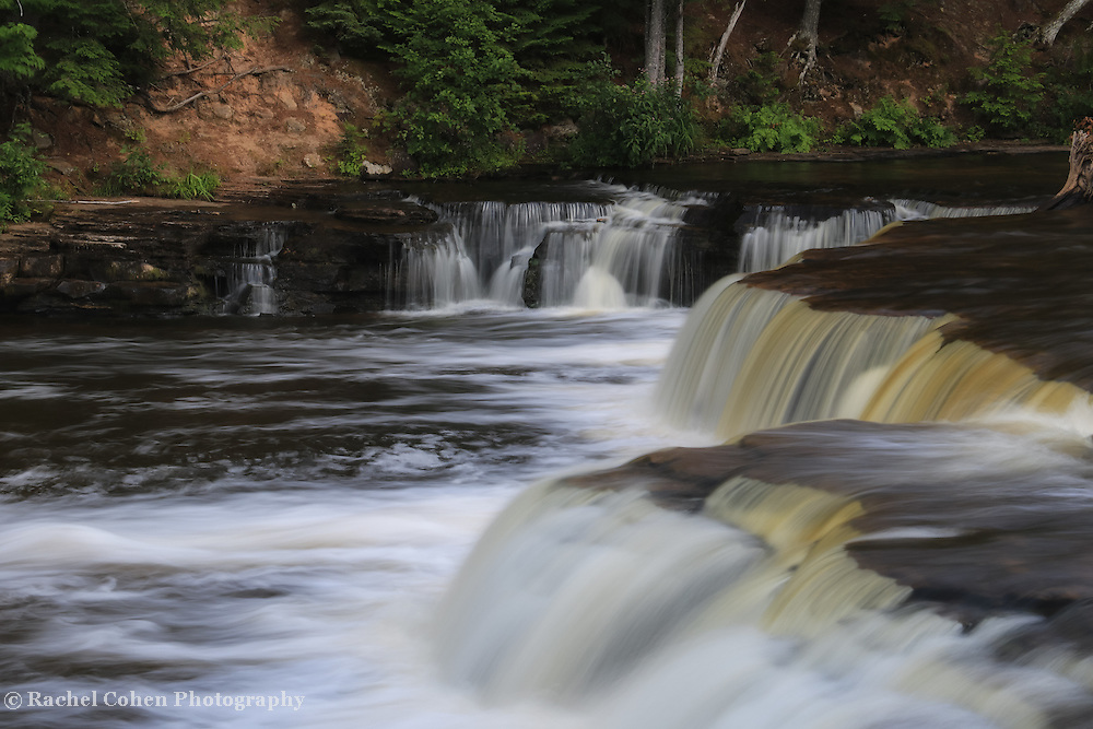 """""""Lower Tahquamenon Summer""""<br /> <br /> Beautiful waterfalls as water flows down the Tahquamenon River at the lower falls."""