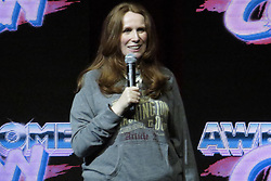 June 18, 2017 - Washington, DC, U.S - Catherine Tate, an actress on television shows such as Doctor Who and The Office, speaking during a Q&A session at Awesome Con 2017. (Credit Image: © Evan Golub via ZUMA Wire)