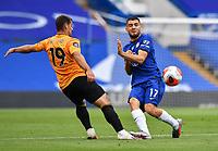 Football - 2019 / 2020 Premier League - Chelsea vs. Wolverhampton Wanderers<br /> <br /> Chelsea's Mateo Kovacic battles for possession with Wolverhampton Wanderers' Jonny Otto, at Stamford Bridge.<br /> <br /> COLORSPORT/ASHLEY WESTERN