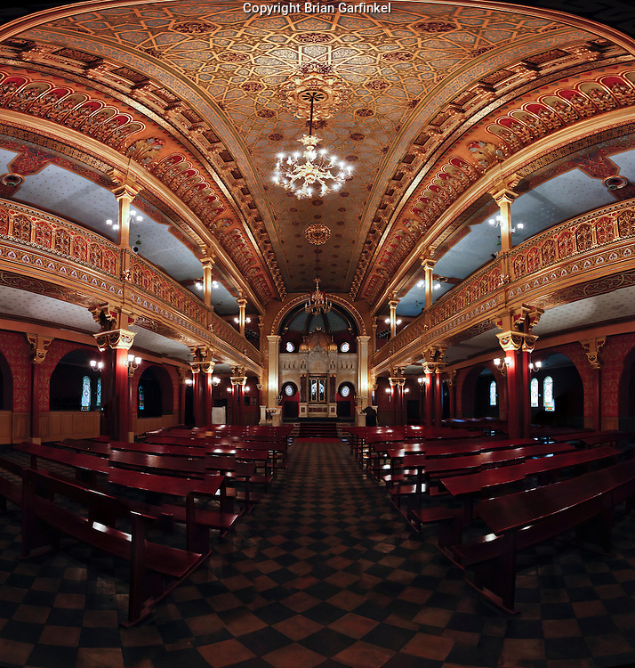 A Panorama in a Synagogue in Krakow, Poland on Monday July 4th 2011.  (Photo by Brian Garfinkel)