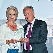 Martin Young Present  Winner of Local Hero – Janet Lynn of the 7th annual Churchill Awards honour achievements of the Over 65's at Claridge's Hotel on 10 March 2019, London, UK.