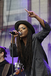 June 17, 2017 - Worms, Rhineland-Palatinate, Germany - US singer Aka Naru performs live on stage at the 2017 Jazz and Joy Festival in Worms. (Credit Image: © Michael Debets/Pacific Press via ZUMA Wire)