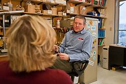 Erik Blake of Icefield Tools Corporation at the company's warehourses in Whitehorse, Yukon