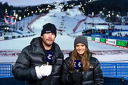 February 8, 2019 - Re, SWEDEN - 190208 Bode Miller and Isabel Boltenstern in the Eurosport studio ahead of the  women's alpine combination during the FIS Alpine World Ski Championships on February 8, 2019 in re..Photo: Joel Marklund / BILDBYRN / kod JM / 87851 (Credit Image: © Joel Marklund/Bildbyran via ZUMA Press)