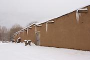 Martinez Hacienda in winter snow