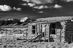 Little Lost Homestead, this remanent of the past that is little more than a texture study now was once the home of a farming family in these rough to farm mountains of Central Idaho.