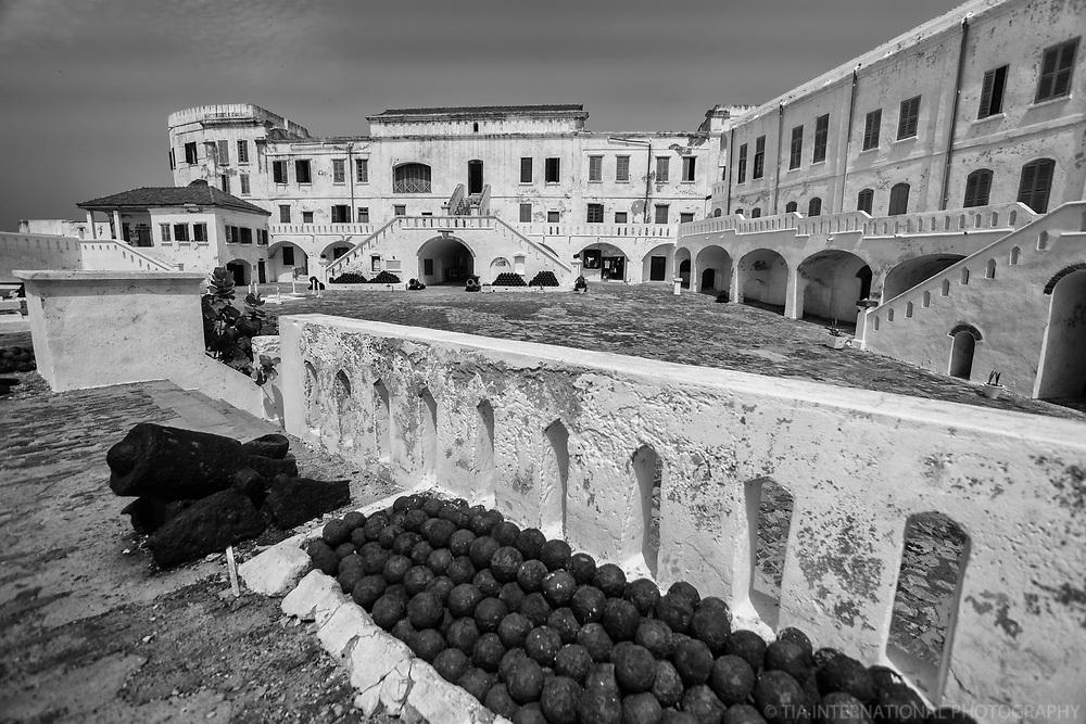 Courtyard, Cannons & Cannonballs, Cape Coast Castle