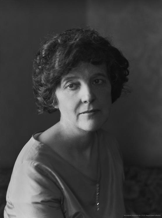 Zona Gale, American Author, 1926