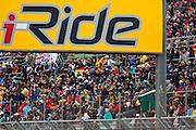 MotoGP Valencia 2012 racetrack, line of tribunes