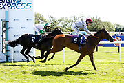 Lehwaiyla ridden by David Probert trained by Sir Michael Stoute /wins the The Sky Sports Racing Skyn415 Median Auction Maiden Fillies' Stakes - Mandatory by-line: Robbie Stephenson/JMP - 22/07/2020 - HORSE RACING - Bath Racecoure - Bath, England - Bath Races