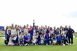 September 30, 2018 - Guyancourt, France, France - joie de European Ryder Cup team captain, Thomas Bjorn of Denmark (Team Europ) et des joueurs Europeens ainsi que leurs femmes avec le trophee (Credit Image: © Panoramic via ZUMA Press)