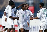 Fotball<br /> African Nations Cup<br /> Foto: Digitalsport<br /> Norway Only<br /> <br /> 1/4 FINAL - 040208<br /> NIGERIA v KAMERUN<br /> <br /> NIGERIAN JOY AFTER THE OKOCHA 'S GOAL<br />  *** Local Caption *** 40001040