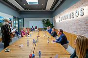 ROTTERDAM, 10-09-2020, Doornbos Equipment<br /> <br /> Werkbezoek van Koningin Máxima, lid van het Nederlands Comité voor ondernemerschap, en SER-voorzitter Mariëtte Hamer aan Doornbos Equipment in Rotterdam in het kader van opleidings- en ontwikkelingsfondsen (O&O fondsen)<br /> <br /> Working visit of Queen Maxima, member of the Dutch Committee for Entrepreneurship, and SER chairman Mariëtte Hamer to Doornbos Equipment in Rotterdam as part of training and development funds (R&D funds) at Doornbos Equipment, Rotterdam.