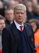 Arsene Wenger, the manager of Arsenal looks on. Premier league match, Stoke City v Arsenal at the Bet365 Stadium in Stoke on Trent, Staffs on Saturday 13th May 2017.<br /> pic by Bradley Collyer, Andrew Orchard sports photography.