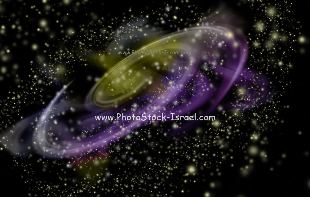 Computer generated fantasy image of a gaseous nebula in deep space