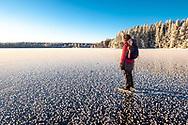 ÖSTERSUND 202101206<br /> Skridskotur vid Andersön en solig och kall onsdag i januari. <br /> <br /> Foto: Per Danielsson/Projekt.P