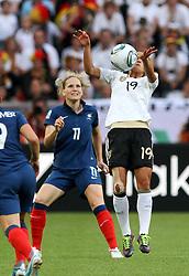 05.07.2011, Borussia-Park, Moenchengladbach, GER, FIFA Women Worldcup 2011, Gruppe A,  Frankreich (FRA) Deutschland (GER) ,. im Bild Fatmire Bajramaj (GER) gegen Laure Lepailleur (FRA) . // during the FIFA Women´s Worldcup 2011, Pool A,France vs Germany on 2011/06/26, Borussia-Park, Moenchengladbach, Germany. EXPA Pictures © 2011, PhotoCredit: EXPA/ nph/  Karina Hessland       ****** out of GER / CRO  / BEL ******
