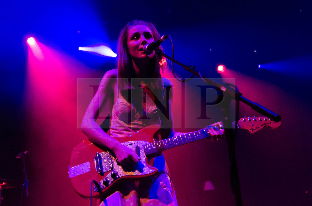 © Licensed to London News Pictures. 29/05/2013. London, UK.   Ellie Rowsell of Wolf Alice performing live at The Roundhouse, supporting headliner Tribes.   Wolf Alice are a four-piece rock band from North London formed in 2010 consisting of band members Ellie Rowsell, Joel Amey, Joff Oddie and Theo Ellis.  Photo credit : Richard Isaac/LNP
