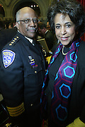G. Jean Howard and David Moore at the Swearing-in of the Honorable David A. Patterson at the 55th Governor of New York  at The New York State Capitol in the Assembly Chambers on March 17, 2008