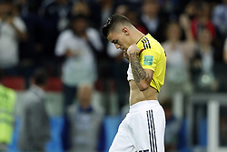 Mateus Uribe of Colombia during the 2018 FIFA World Cup Russia round of 16 match between Columbia and England at the Spartak stadium  on July 03, 2018 in Moscow, Russia