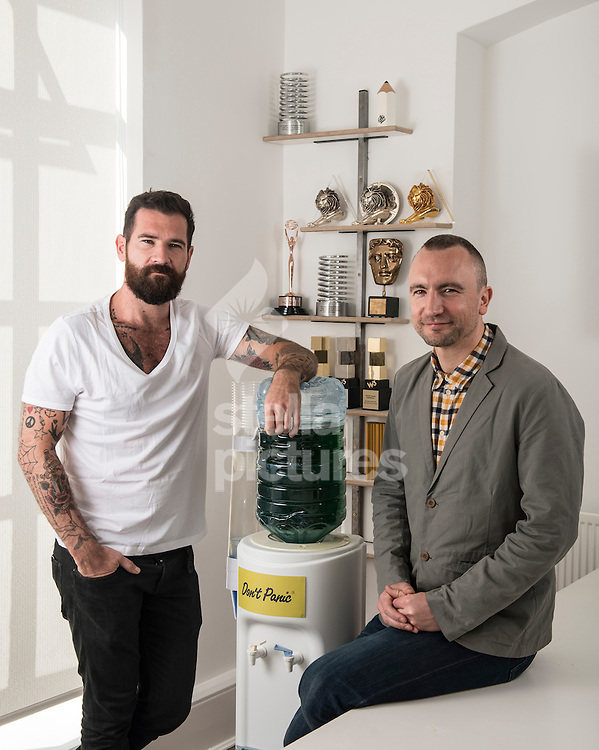 Mark Whiteway (left) and Joe Wade, founders of DPP Agency pictured at their east London offices.<br /> Picture by Daniel Hambury/Stella Pictures Ltd +44 7813 022858<br /> 06/04/2016
