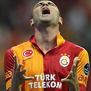 Galatasaray's Burak Yilmaz during their Turkish Super League soccer match Galatasaray between Kayserispor at the TT Arena at Seyrantepe in Istanbul Turkey on Saturday, 27 October 2012. Photo by TURKPIX