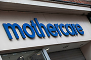 Sign for maternity and children's clothes retailer Mothercare.