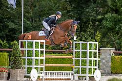 Kalf Cristel, NED, Lolita<br /> Nationaal Kampioenschap KWPN<br /> 4 jarigen springen final<br /> Stal Tops - Valkenswaard 2020<br /> © Hippo Foto - Dirk Caremans<br /> 19/08/2020