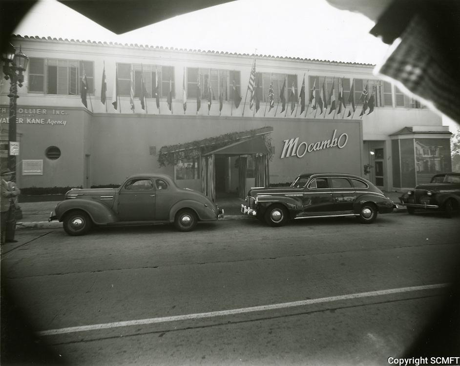 1946 Mocambo Nightclub in West Hollywood
