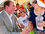 Aug 9, 2010 - SUN CITY WEST, AZ: J.D. HAYWORTH, a former US Congressman and right wing radio talk show host, talks to voters during the Spending Revolt Bus stop in Sun City West, AZ. Hayworth is running against Sen. John McCain in Arizona's Republican primary. Hayworth is hoping to capitalize on the Tea Party vote, though the Arizona Tea Party has not formally endorsed him. The Spending Revolt Bus stopped in Sun City West, a retirement community northwest of Phoenix, Monday. Spending Revolt is a new coalition of taxpayers and business owners concerned about government spending. The bus is attracting Republican and Tea Party affiliated candidates to its events. The bus has crisscrossed Nevada, California and Arizona and is heading east to Washington DC.   Photo by Jack Kurtz / ZUMA Press