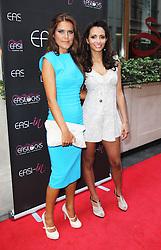 © London News Pictures. Gemma Oaten and Mariama Goodman arriving at the Easilocks VIP launch, Sanctum Soho Hotel London UK, 09 July 2013. Photo credit: Richard Goldschmidt/LNP
