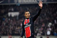 FOOTBALL - FRENCH CHAMPIONSHIP 2011/2012 - L1 - PARIS SAINT GERMAIN v OLYMPIQUE MARSEILLE - 8/04/2012 - PHOTO JEAN MARIE HERVIO / REGAMEDIA / DPPI - GUILLAUME HOARAU (PSG) AT THE END OF MATCH