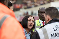 Football - 2016 / 2017 Premier League - West Ham United vs. Middesborough <br /> <br /> A Middlesborough fan pleads with the stewards after there is trouble with the home supporters at The London Stadium.<br /> <br /> COLORSPORT/DANIEL BEARHAM