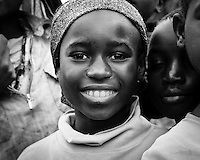 A Portrait of a young girl in an Irente village in the Usambara Mountains, Lushoto in Tanzania, Africa