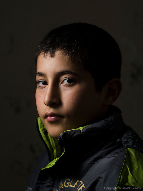 Syrian refugee child at a the Free Syria school.