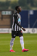 Rosaire Longelo during the EFL Trophy match between Shrewsbury Town and U21 Newcastle United at Greenhous Meadow, Shrewsbury, England on 22 September 2020.