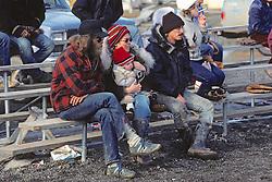 People Watching Softball Game