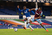 Football - 2020 / 2021 League (Carabao) Cup - Round 4 - Everton vs West Ham United - Goodison Park<br /> <br /> Everton's Abdoulaye battles with  West Ham United's Sebastien Haller<br /> <br /> COLORSPORT/TERRY DONNELLY