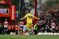 Ross McCormack of Fulham throws his hands up in disgust as Fulham concede a second goal against Brentford. Skybet football league championship match, Brentford  v Fulham at Griffin Park in London on Saturday 30th April 2016.<br /> pic by Steffan Bowen, Andrew Orchard sports photography.
