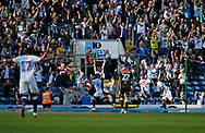 Goal celebration by Blackburn Rovers Kasey Palmer during the EFL Sky Bet Championship match between Blackburn Rovers and Brentford at Ewood Park, Blackburn, England on 25 August 2018.
