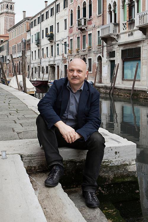 Venice, Italy, April 30, 2015. Tiziano Scarpa, Italian writer.